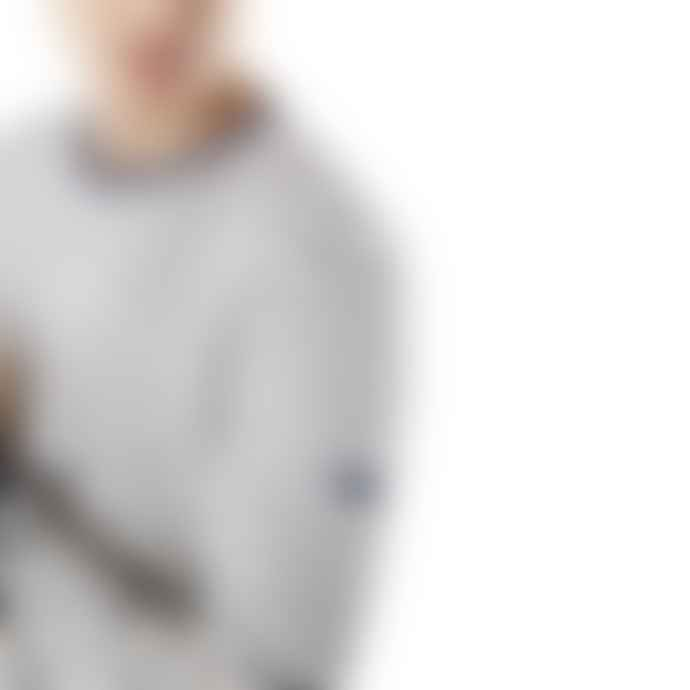 SAINT JAMES Ecru and Indigo Cotton Fleece Pertuis Sweatshirt