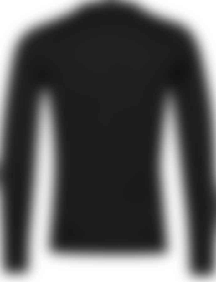 John Smedley Bower High V Neck Knit Black