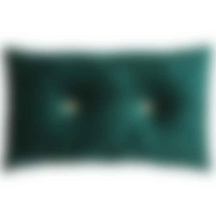 RH 30 X 50 Cm Velvet Cushion Emerald