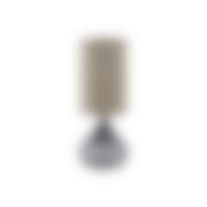 House Doctor Grey Glass Table Lamp, Medium