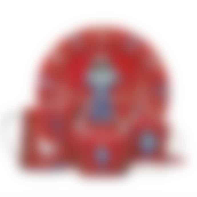 Iittala   Red Taika Plate 22cm