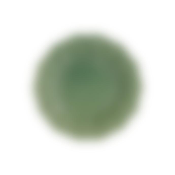 Bordallo Pinheiro Set of 2 Green Earthenware Hunting Mini Plates