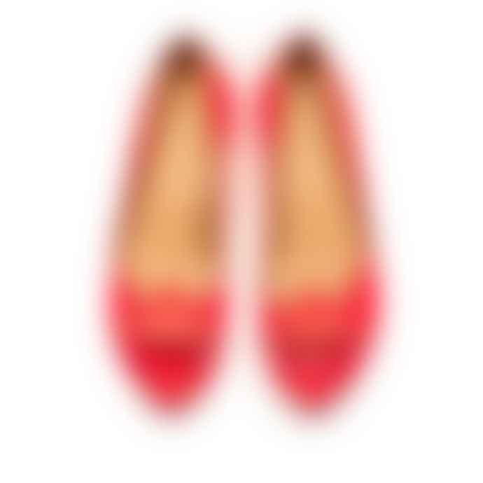 Tracey Neuls Online Gord Neon Red Peep Toe Shoe