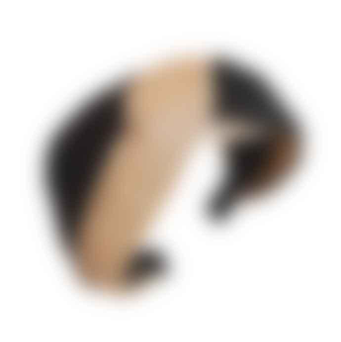 Crane and Kind Black Or Nude Raffia Woven Headband