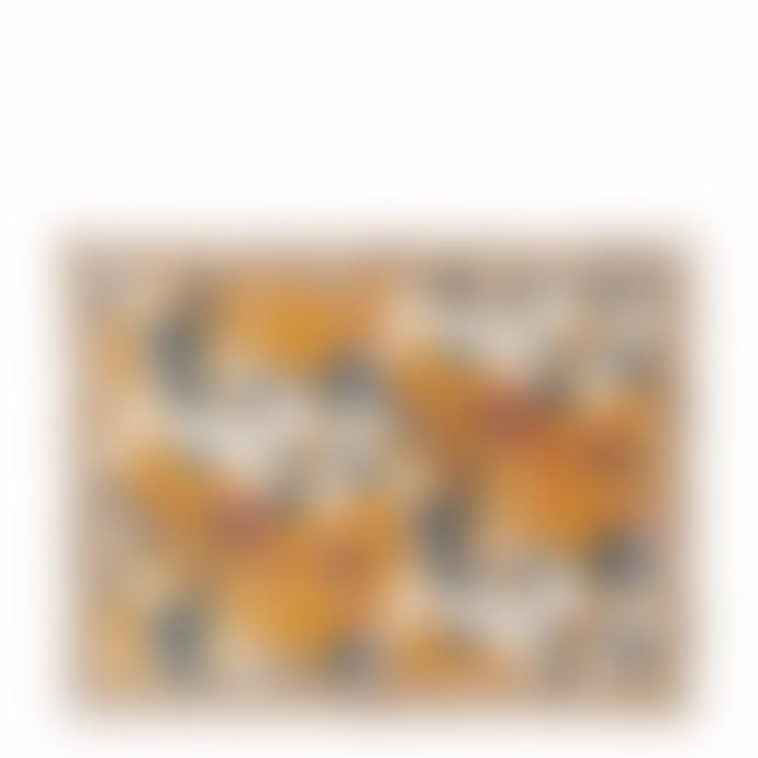 Jamini IRIS - MUSTARD Table mat / 13,7 x 17,7 inches