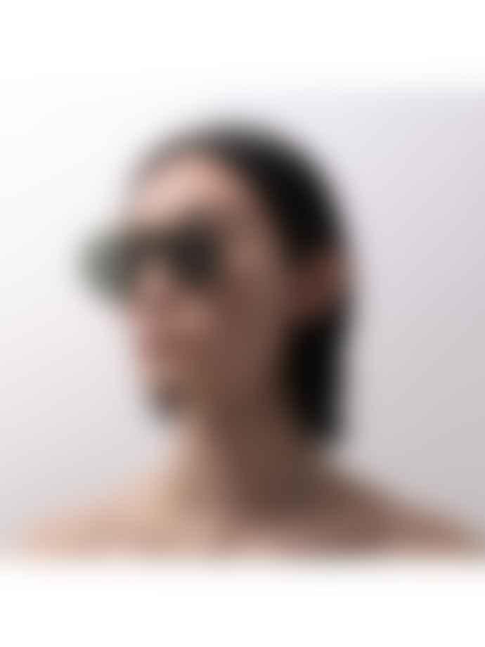 Han Kjobenhavn Shield Gold Titanium Sunglasses