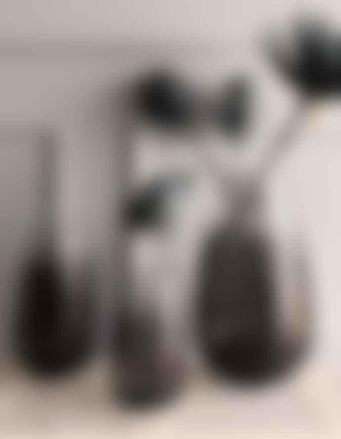 AU Maison Black Smoked Glass Vase