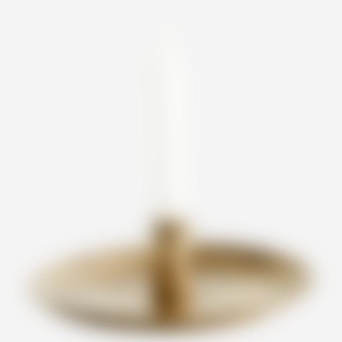 Madam Stoltz Hand Forged Antique Brass Candle Holder, 19 cm D