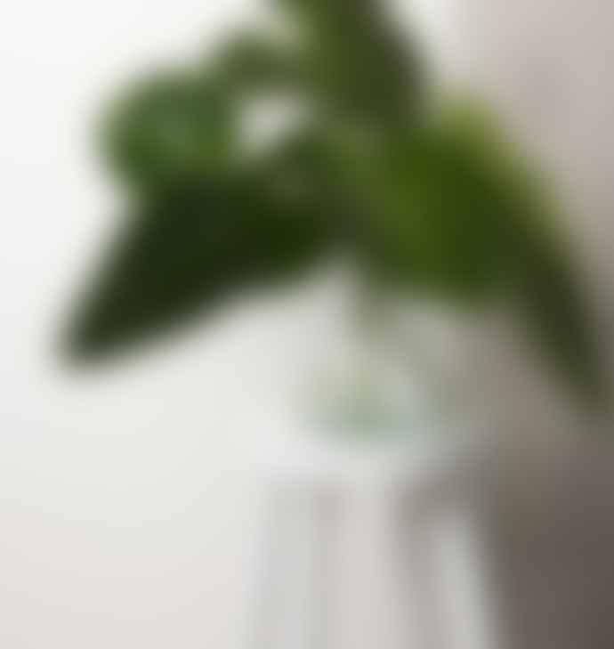 Urban Nature Culture Transparent Blue Recycled Glass Diabolo Vase