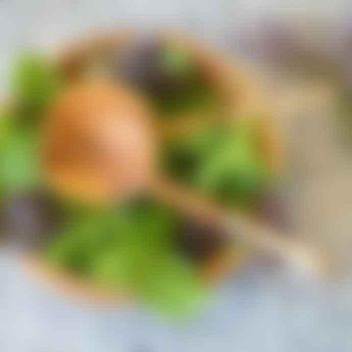 Artisans & Adventurers Wood Bone Round Salad Servers