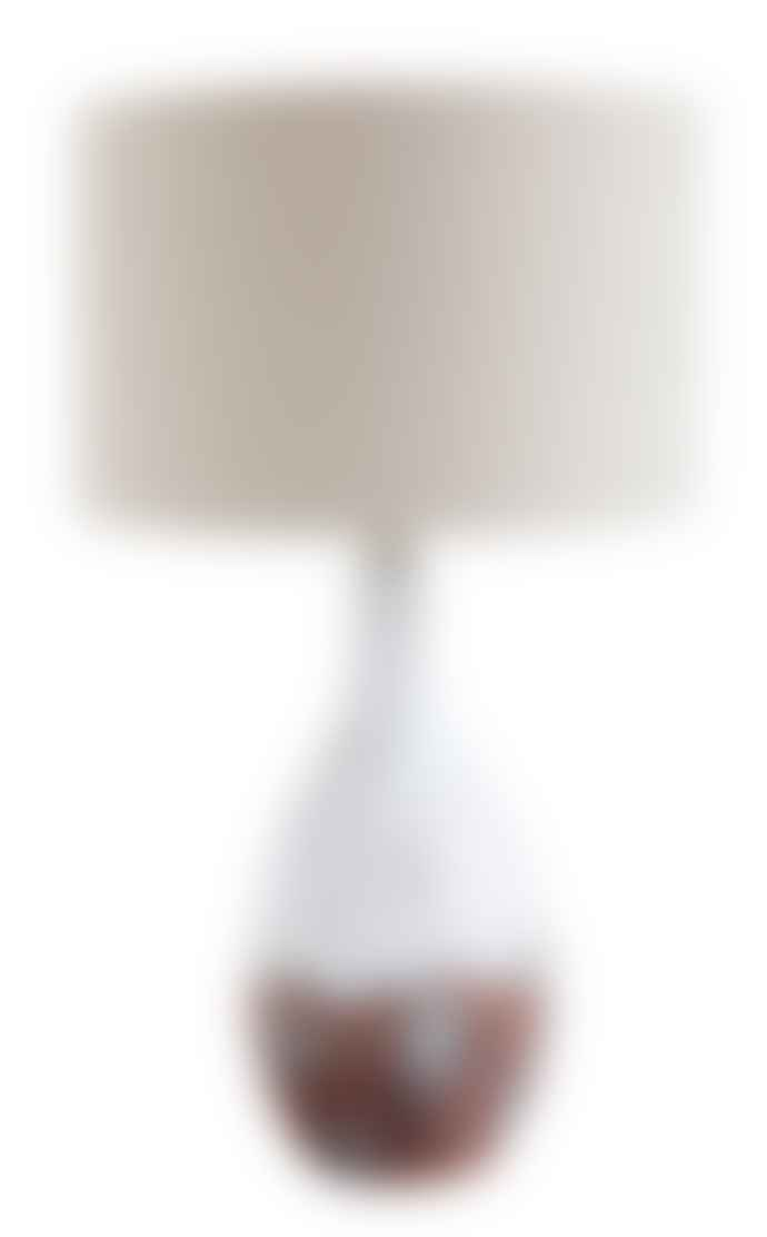 Bloomingville White ceramic table lamp