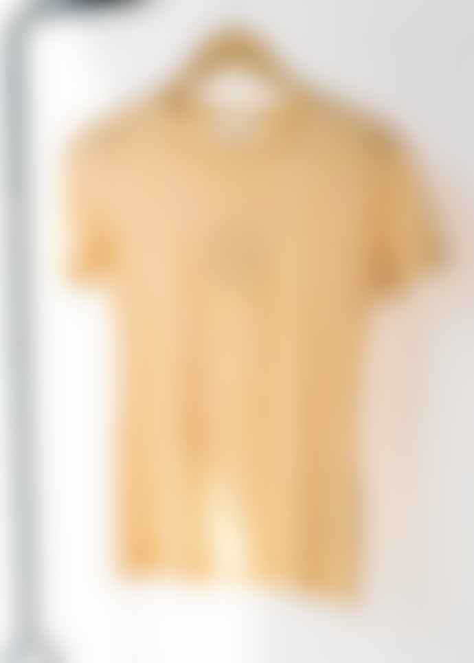 Armedangels 100% Organic Cotton Striped T-shirt In Caramel Butter