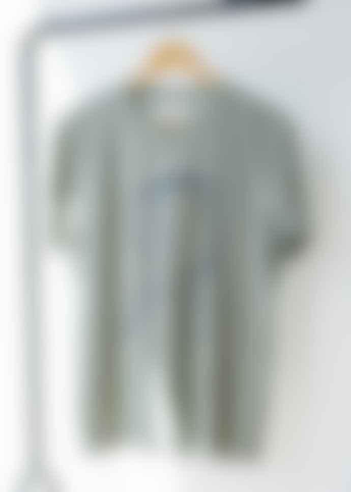 Armedangels 100% Organic Cotton 'Head Music' Printed T-shirt In Chinois Green