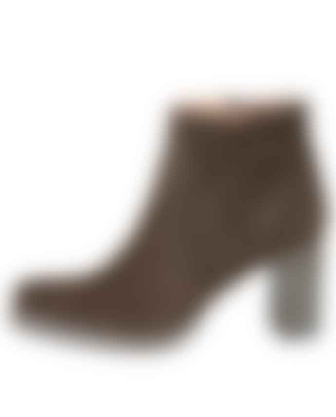 Yaya Green Suede Heeled Boots
