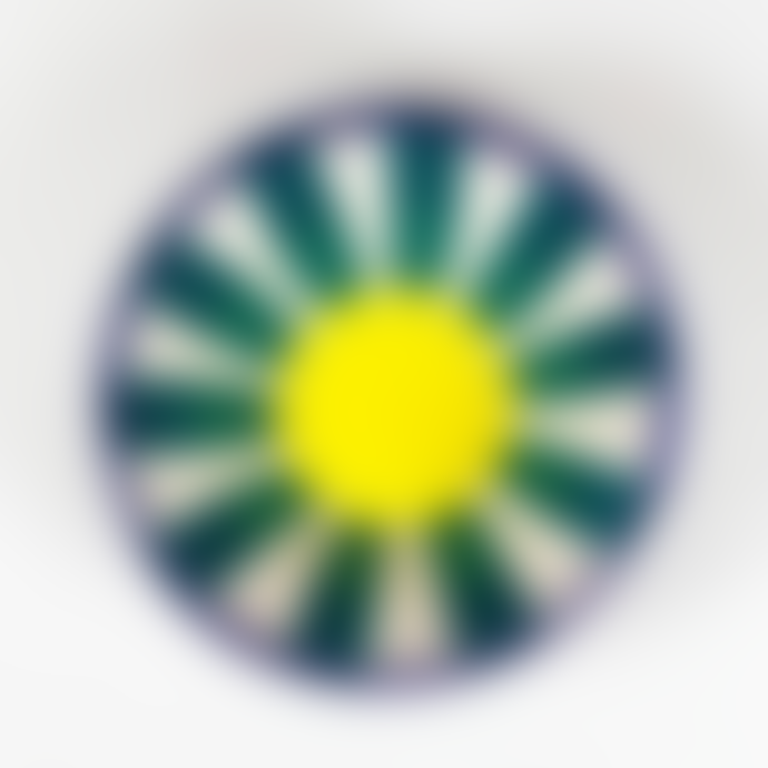 Pura Cal Memphis Terracota Blue Stripes and Yellow & Teal Handmade Bowl