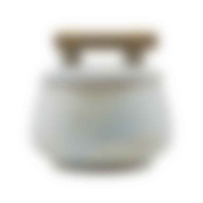 House Doctor Grey Blue Storage Jar