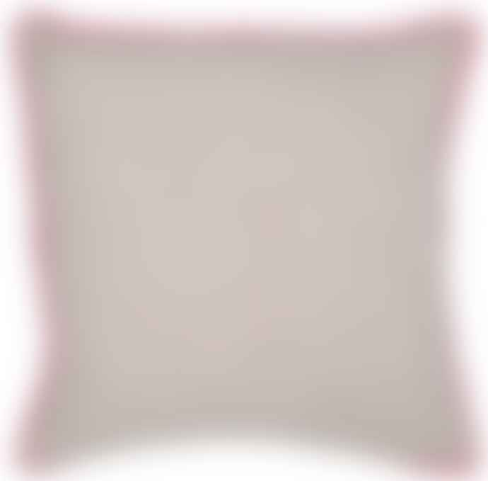 Oat Pink Rim Cushion Cover