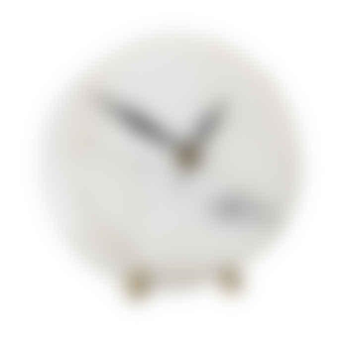 Bloomingville White Marble Clock