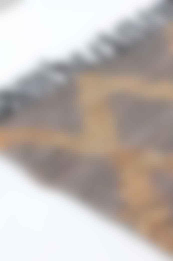 Ian Snow Recycled Leather Grey Rug 60 X 90 Cm