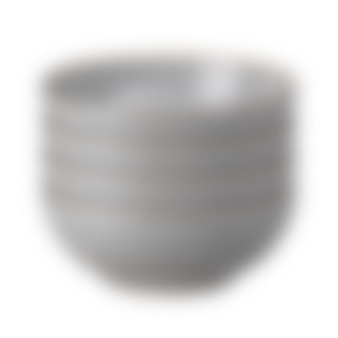 Denby 820ml Stoneware Studio Grey 4 Piece Cereal Bowl Set