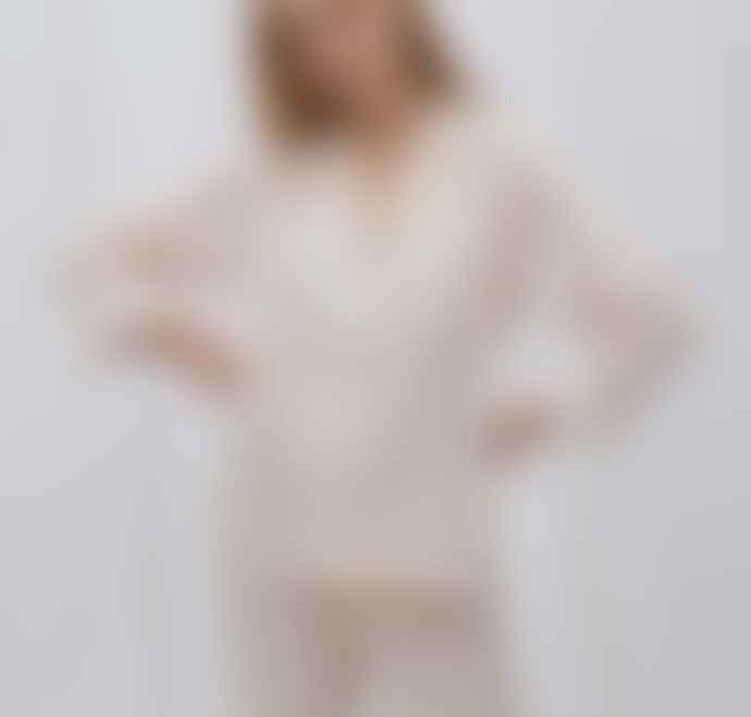 Honna Beige Stripe Pyjama Set