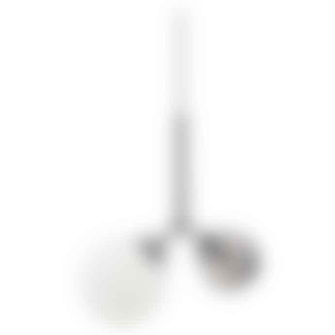 Margaux - two-globe modern pendant light - black and white + black glass