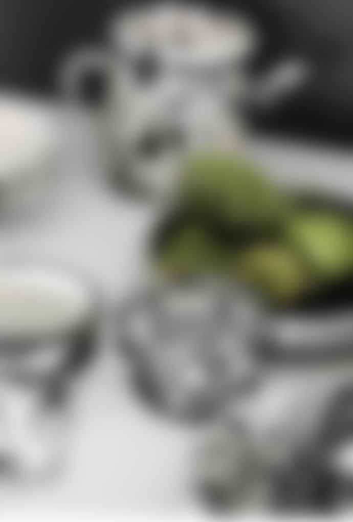 Bornn Monochrome Splatter White On Black Large Rectangular Dish