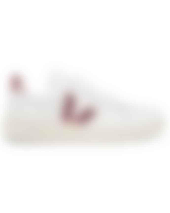 Veja V 10 Low Top Metallic Trimmed Sneakers