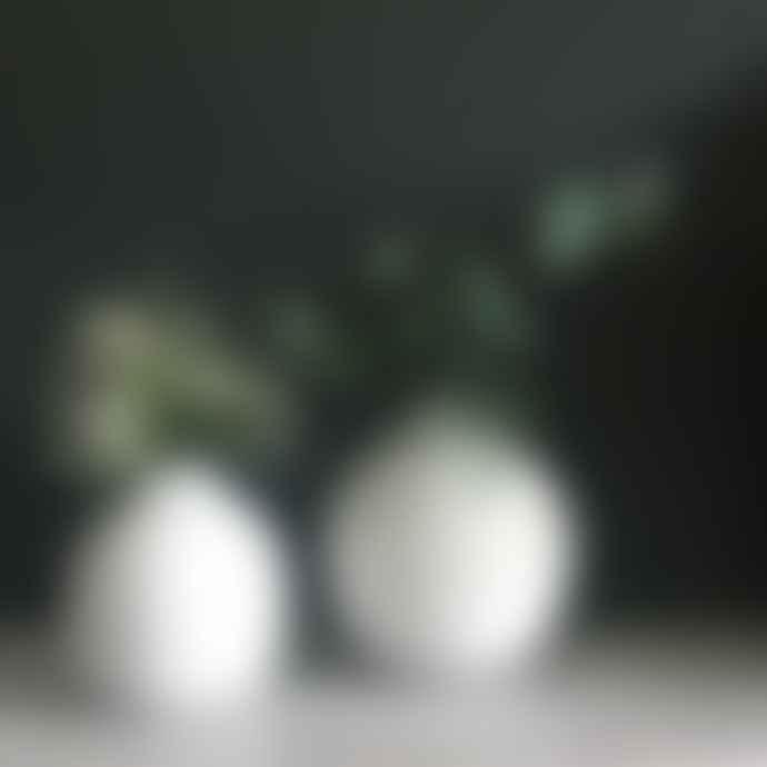 Light & Living Round Matt White Vase