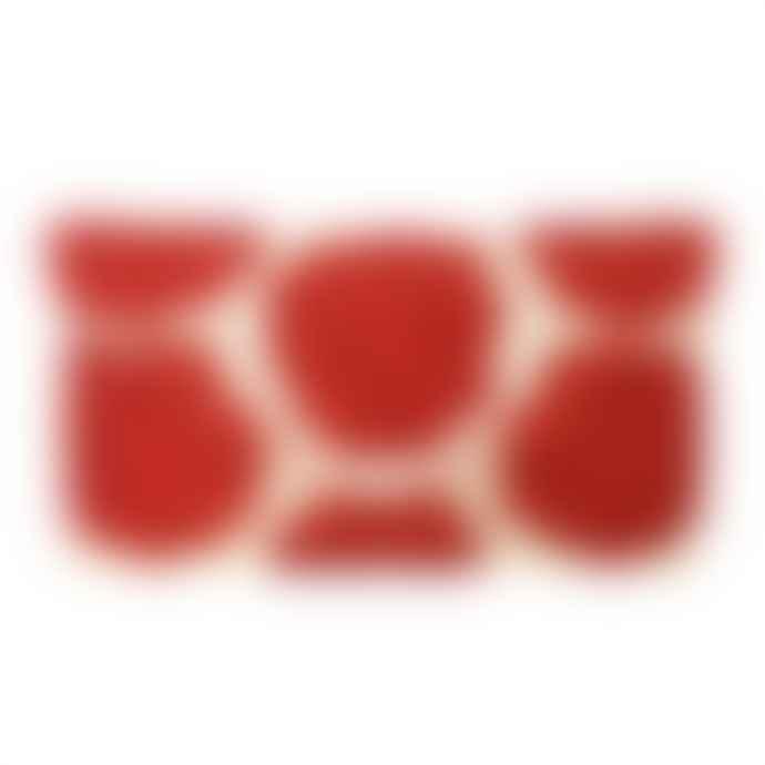 From St Xavier Rosie II Beaded Clutch - Cream / Red
