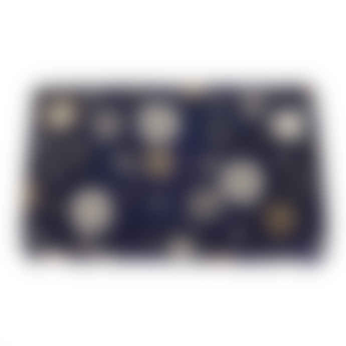 From St Xavier Azalea Beaded Clutch - Navy