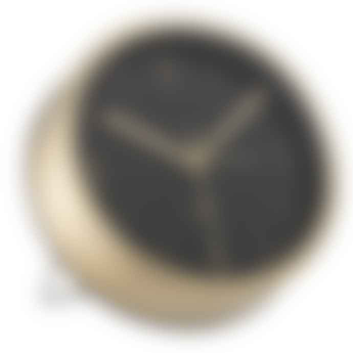 Bloomingville Minimalistic Gold And Black Table Alarm Clock