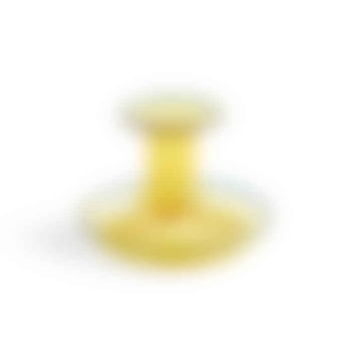 HAY Yellow Flare Glass Candlestick