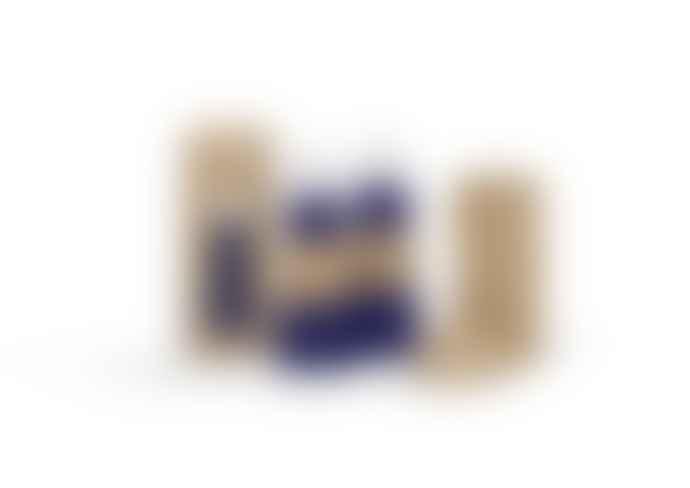 Lund London Skittle water bottle - 500ml Indigo/white