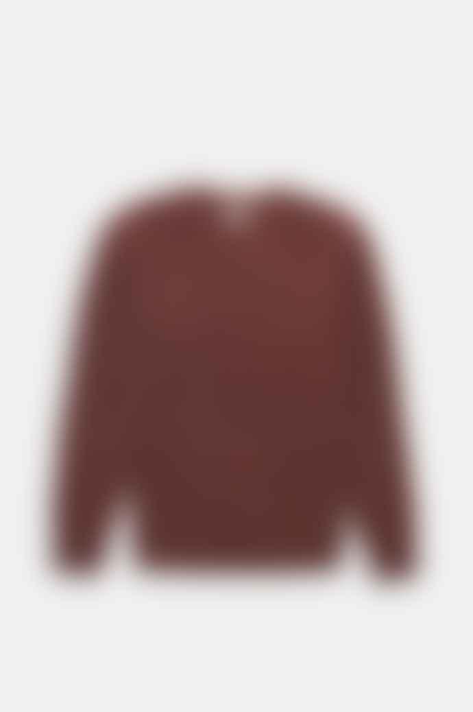 Bellerose Umash Knitted Jumper In Cordovan