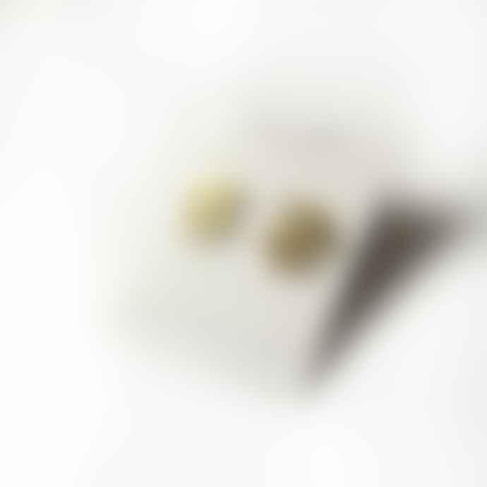 lima-lima Brass Leaf Stud Earrings