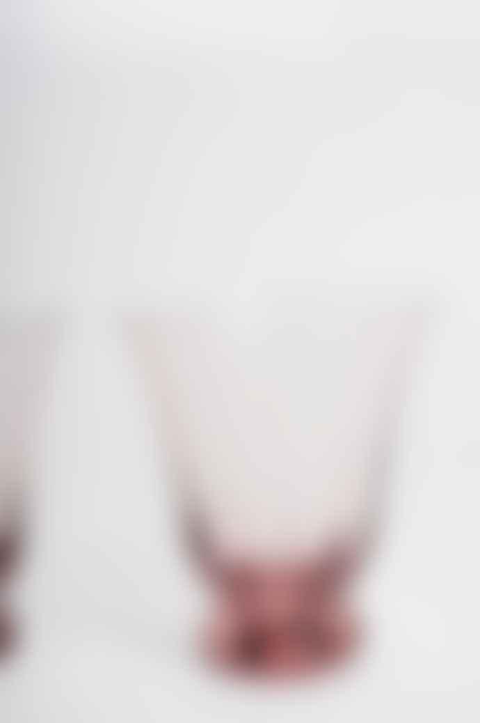 Bungalow Blush Trellis Water Glass Set Of 2