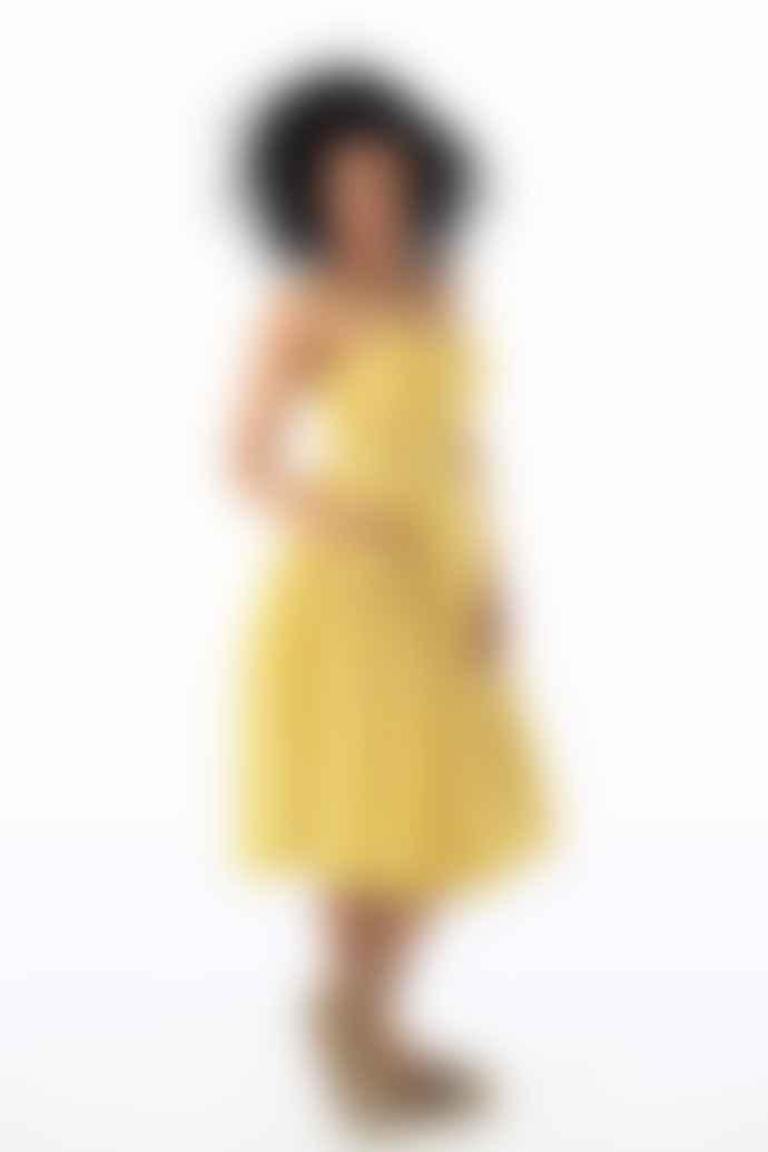 Emily and Fin Yellow Plaid Cotton Layla Sun Dress