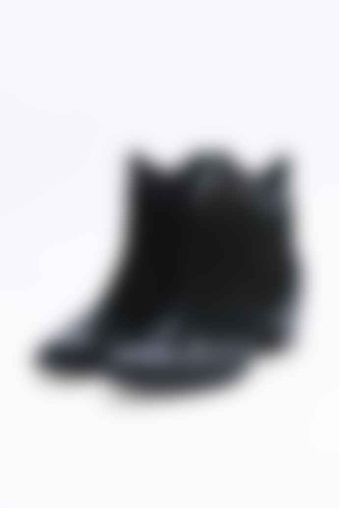 Kanna  Chester Black Cowboy Ankle Boots