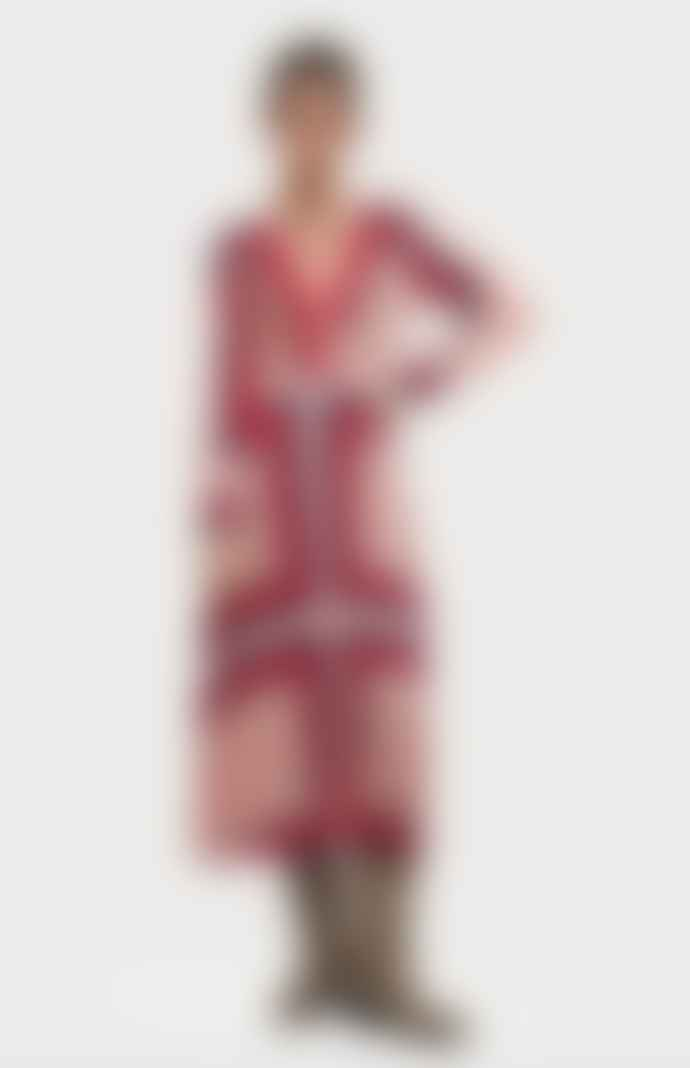 Scotch & Soda Bandana Print Polyester Pleated Dress