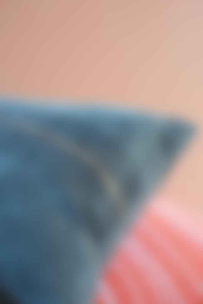 Ian Snow Grey cushion - hand printed glitter stripe