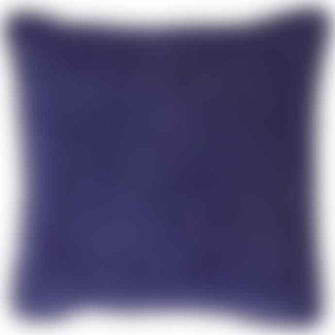 Liv Interior Indigo Square Velvet Cushion Cover 45 x 45 cm