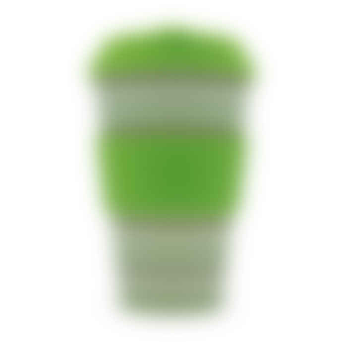 Ecoffee Cup 14oz 400ml Green Polka reusable bamboo coffee cup