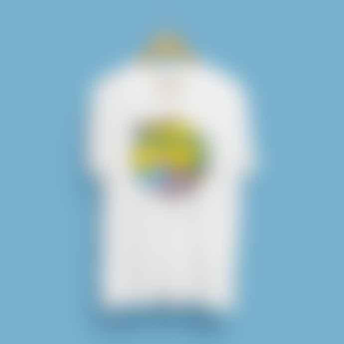 Sanz I Vila White Cotton Greetings from Benidorm T Shirt