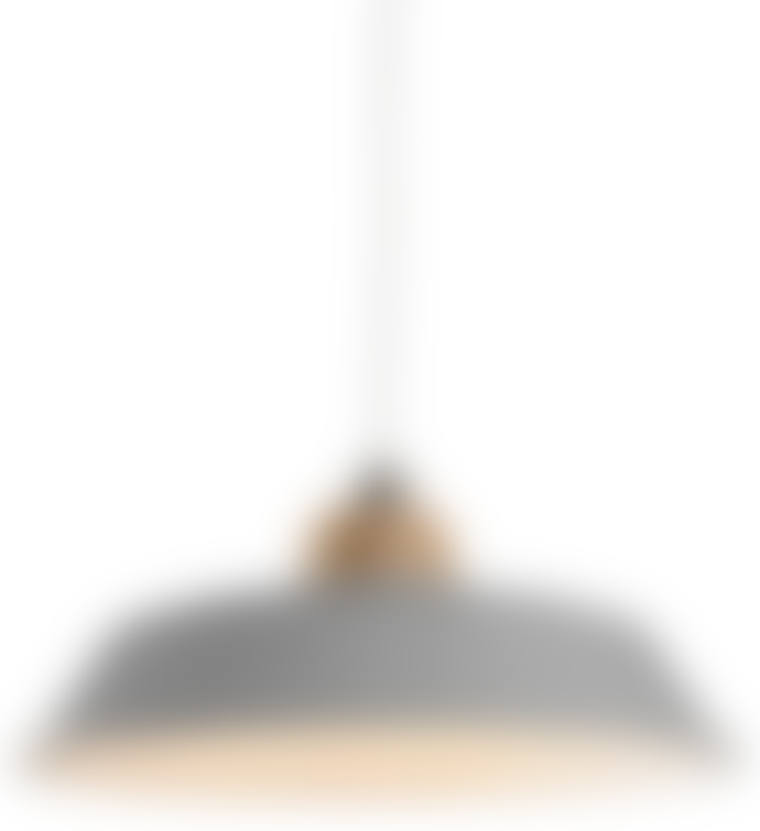 Lighting & Interiors Grey Metal Jakob Pendant Lampshade