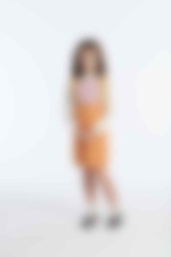 Misha & Puff 5-8Y Apricot Pima Cotton Prairie Pinafore Girls Dress