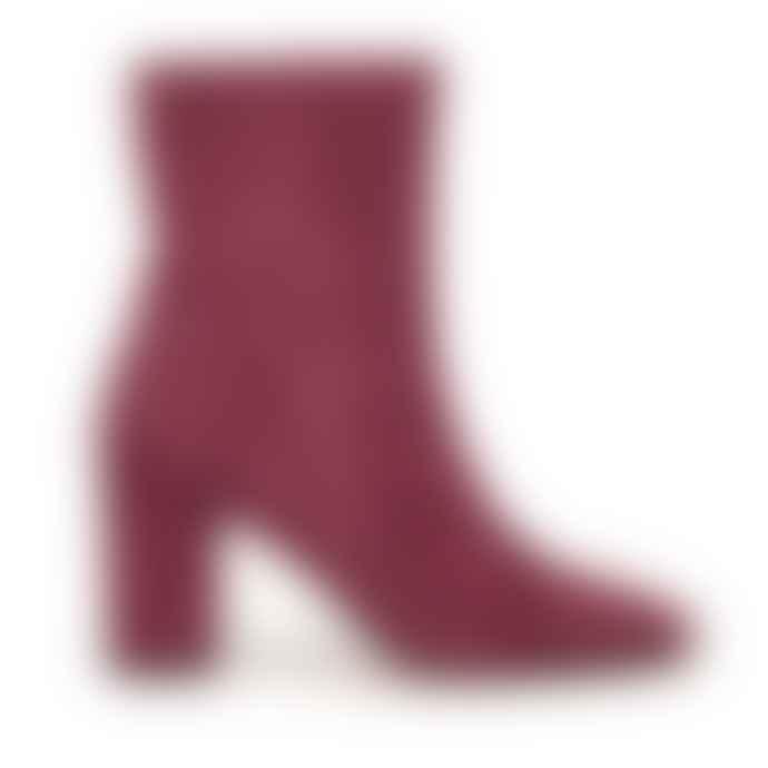 Fabienne Chapot Burgundy Suede Solo Boots