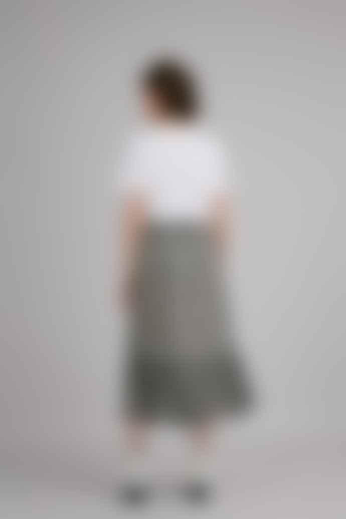 SUNCOO Polyester Felicite Leopard Print Skirt
