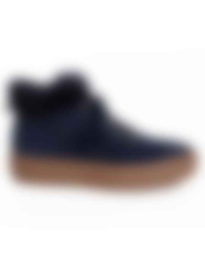 Philip Hog Alma Suede Boot Midnight Blue