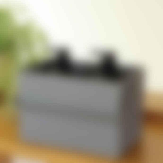 Hachiman Omnioffre Stacking Storage Box Large in Rose Pink/Grey